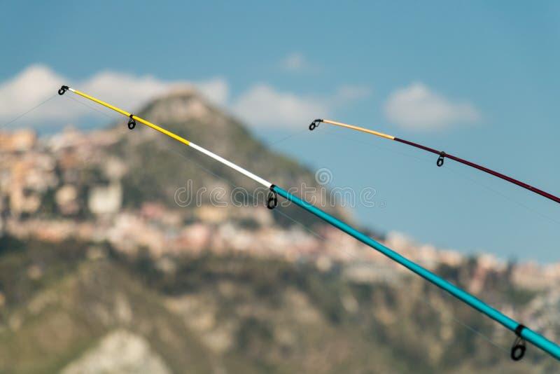 钓鱼竿 库存照片