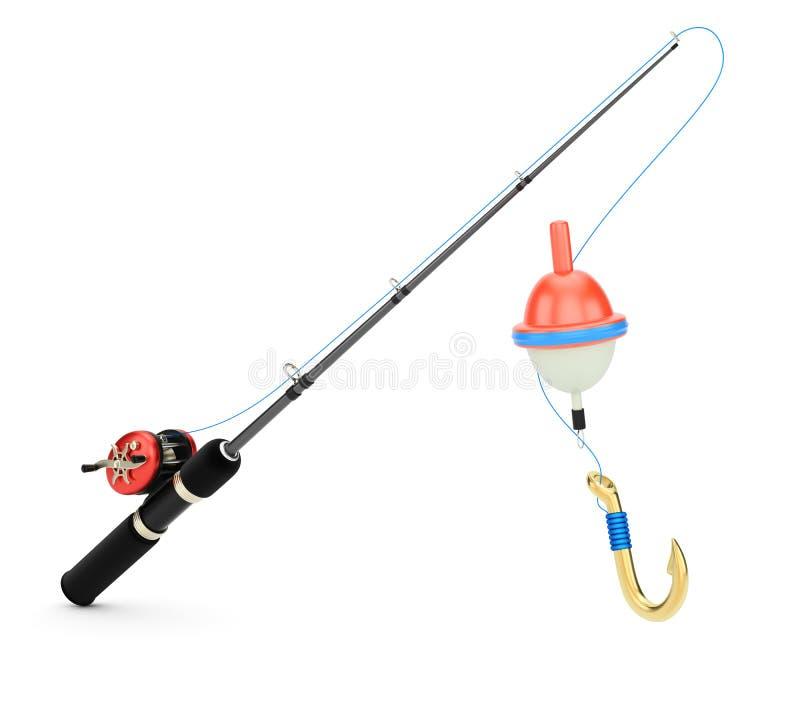 钓鱼竿 向量例证