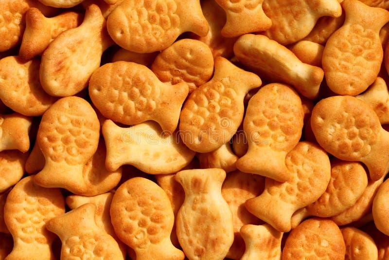 钓鱼薄脆饼干 免版税库存图片
