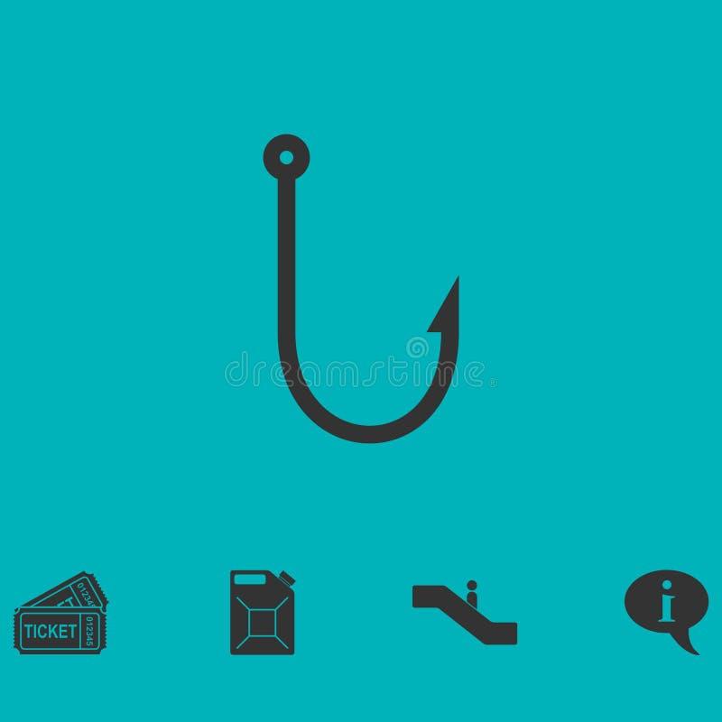 钓鱼钩象舱内甲板 向量例证