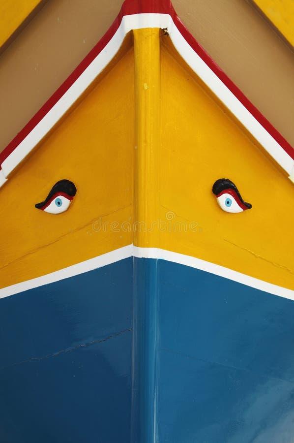 钓鱼马尔他传统的小船 免版税库存照片