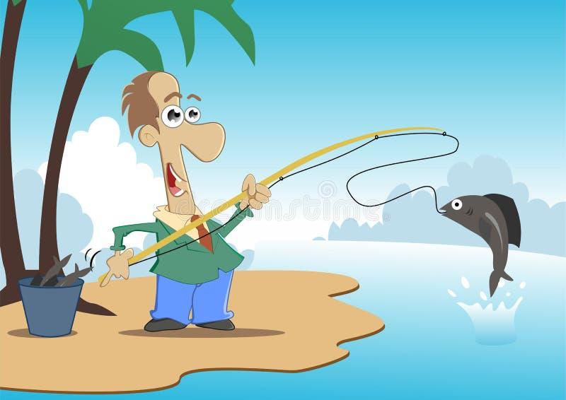 钓鱼 向量例证