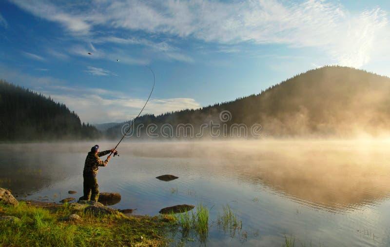 钓鱼 库存图片
