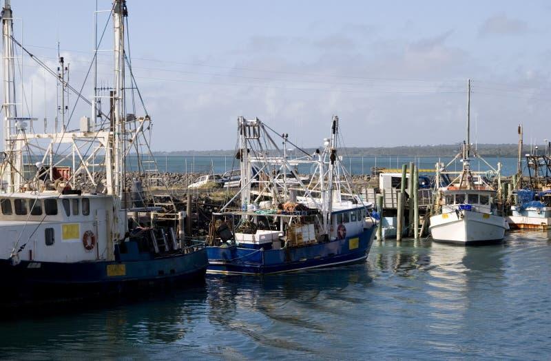 钓鱼hervey的海湾小船 免版税库存照片