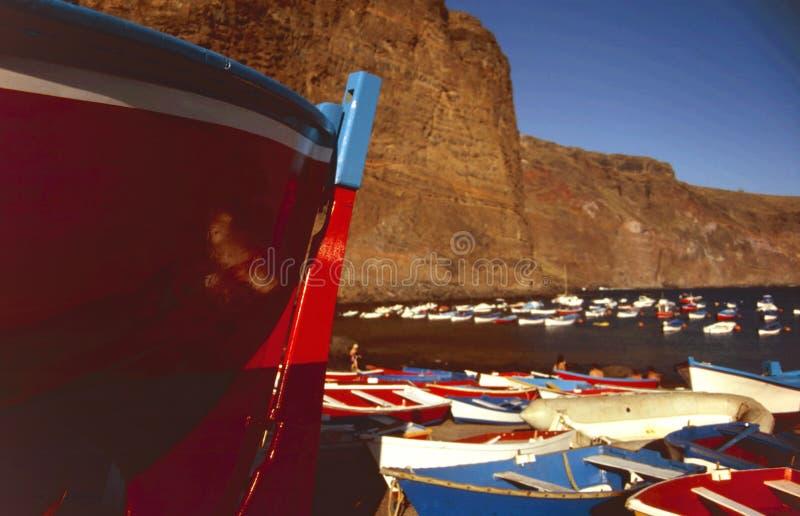 钓鱼islas的小船canarias 图库摄影