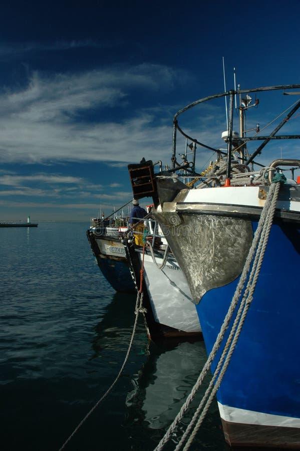 钓鱼kalk的海湾小船 免版税库存照片