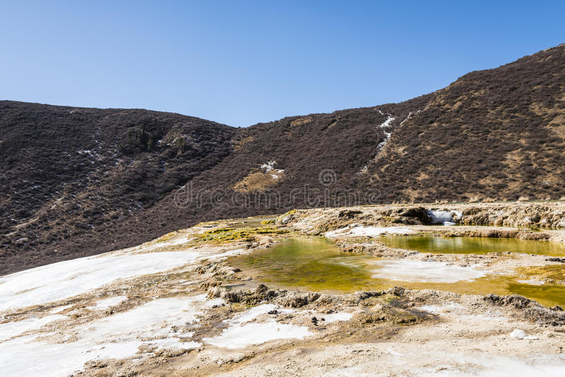 钙化的池塘 图库摄影