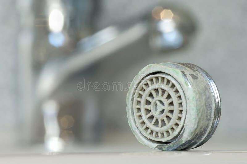 钙化的自来水 免版税图库摄影