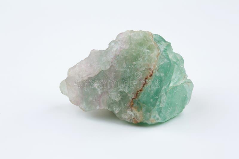 钙氟化物荧石绿色矿物 矿物自然石头 免版税库存照片