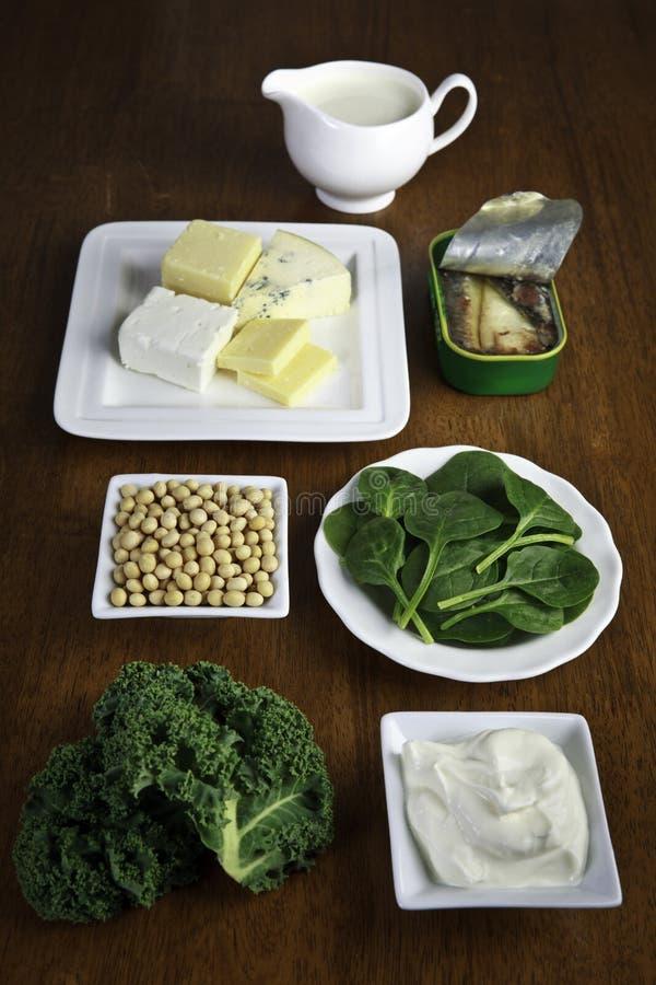 钙食物来源 免版税图库摄影