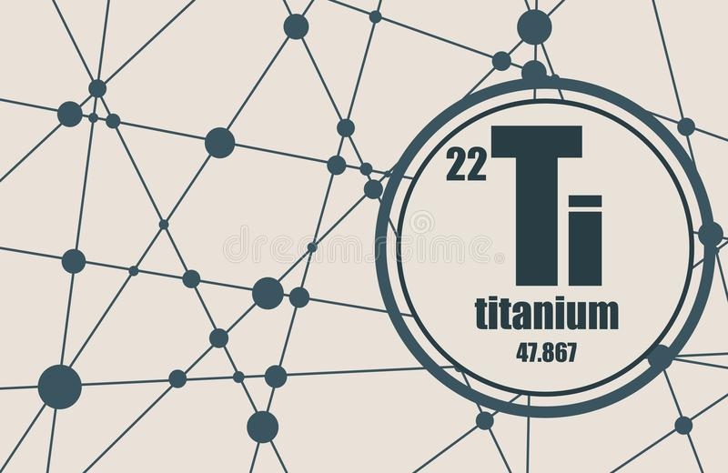 钛化学元素 皇族释放例证