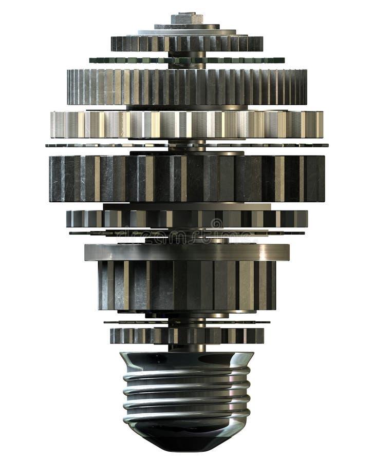 钝齿轮电灯泡形状概念 库存图片