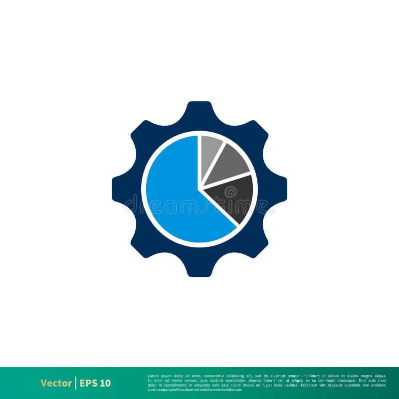 钝齿轮,齿轮圆形统计图表象传染媒介商标模板例证设计 o 向量例证