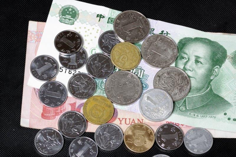 钞票中国人硬币 图库摄影