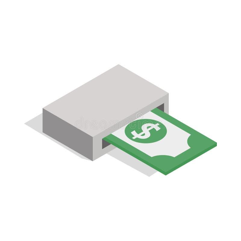 钞票产品从atm象的 皇族释放例证
