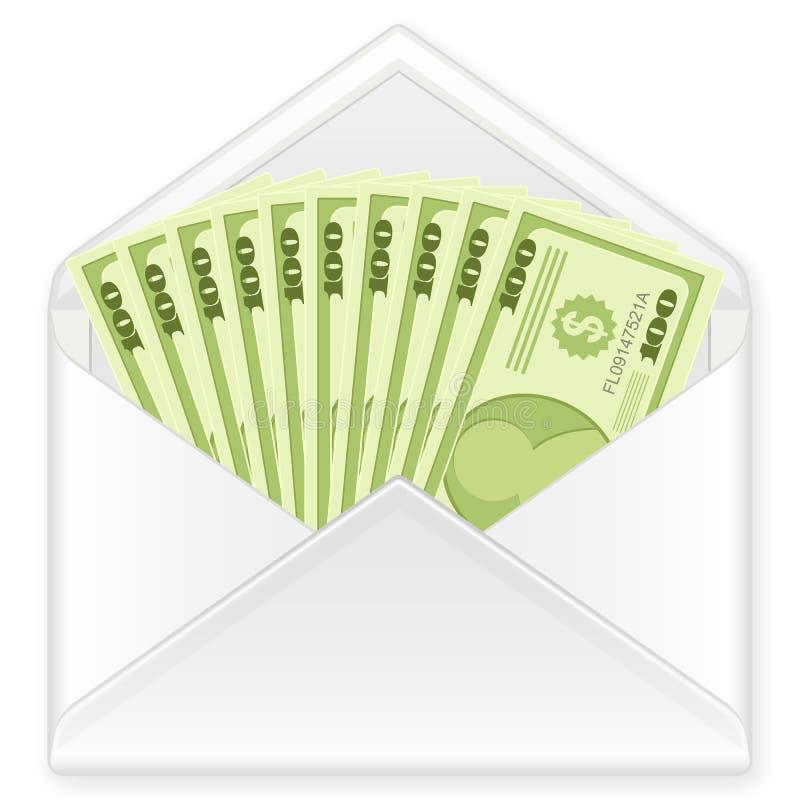 钞票信包 向量例证