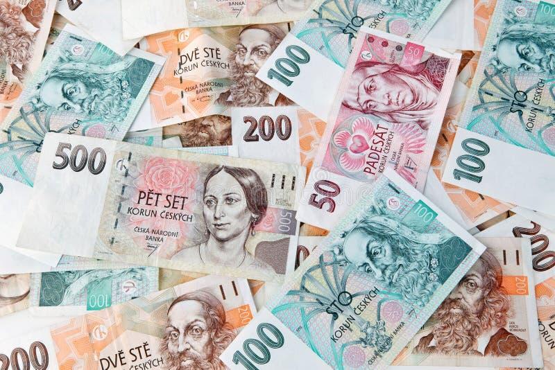 钞票捷克共和国 库存照片