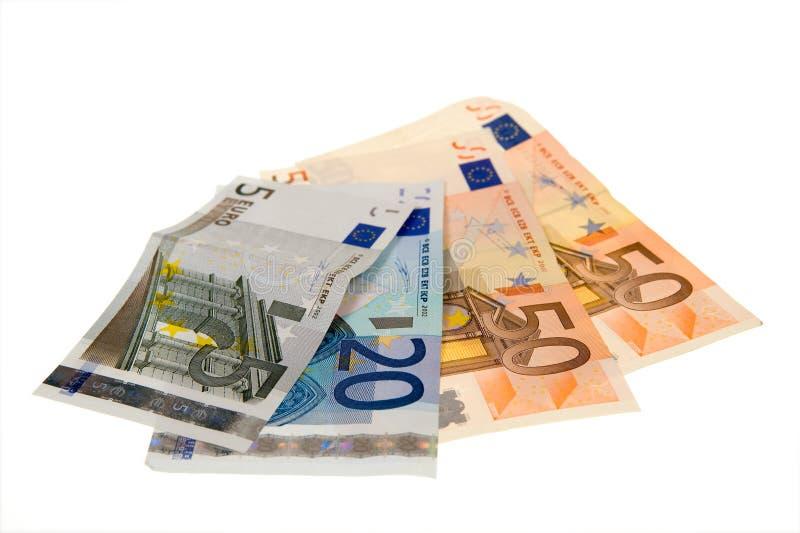 钞票查出白色 库存照片