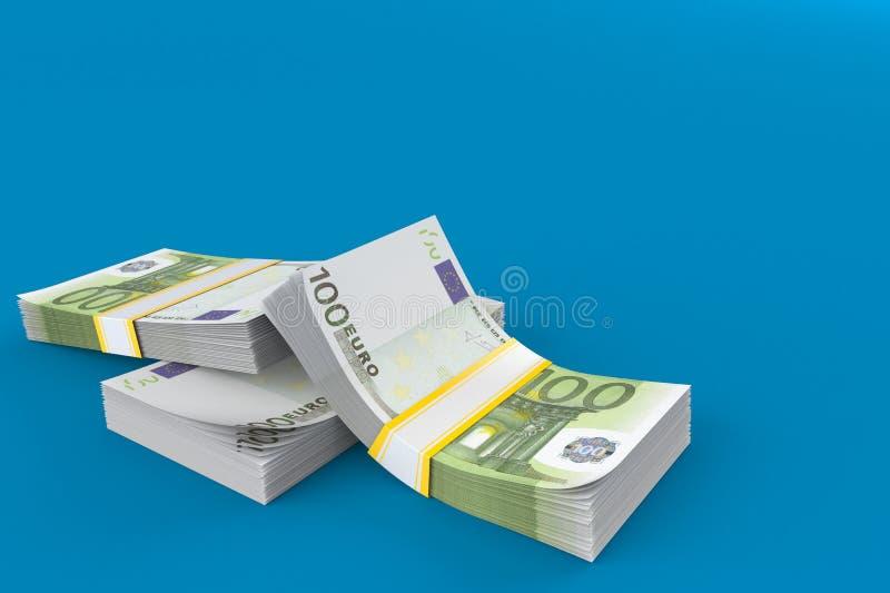 钞票概念性货币欧元五十五十 皇族释放例证