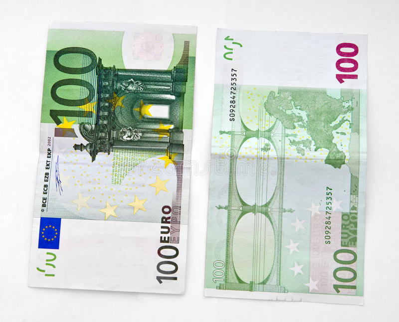 钞票欧元一百一个 免版税图库摄影