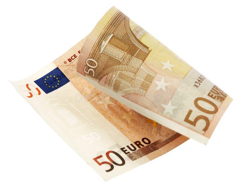 钞票欧元五十 库存照片