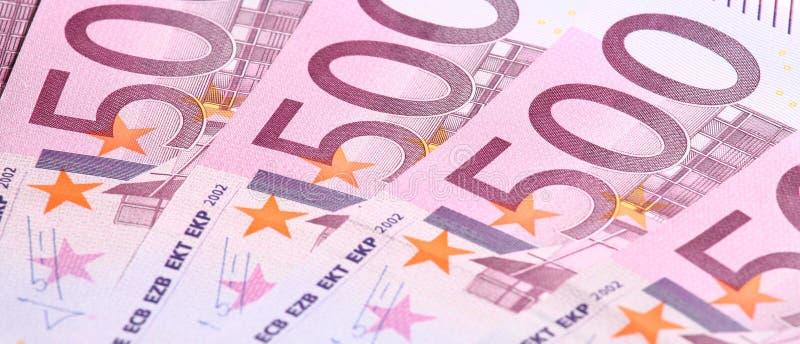 钞票欧元五第百 图库摄影