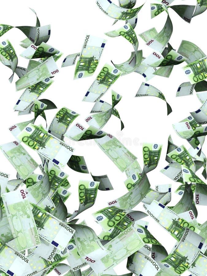 钞票欧洲飞行 向量例证