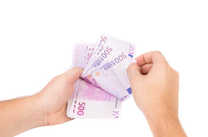 钞票欧洲现有量藏品 库存照片