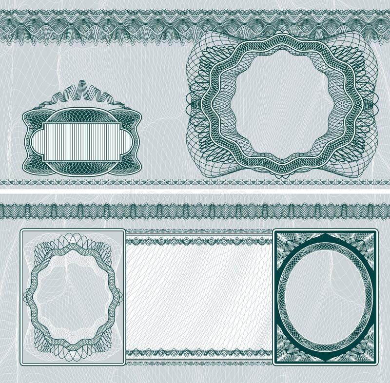 钞票空白格式 库存例证