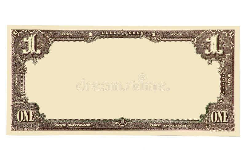 钞票空白 免版税库存图片