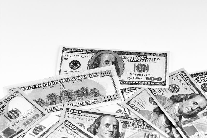 钞票美元一百一 美元特写镜头概念 大使 免版税库存图片
