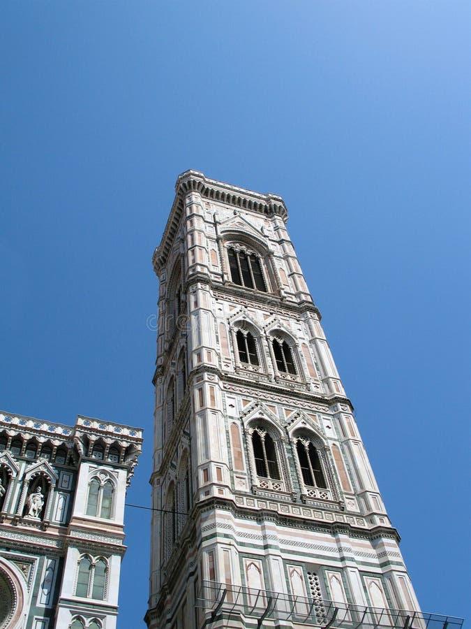 钟楼乔托在佛罗伦萨,意大利,建筑学14世纪杰作  库存照片