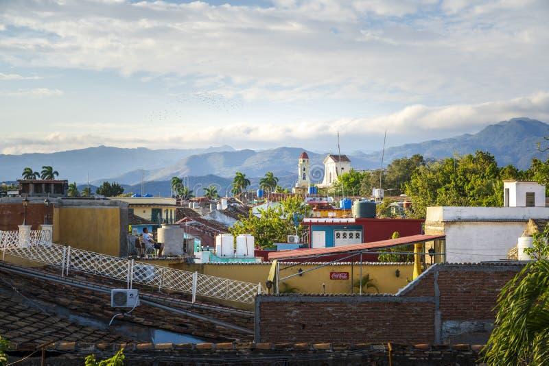 钟楼和特立尼达的看法 免版税库存照片