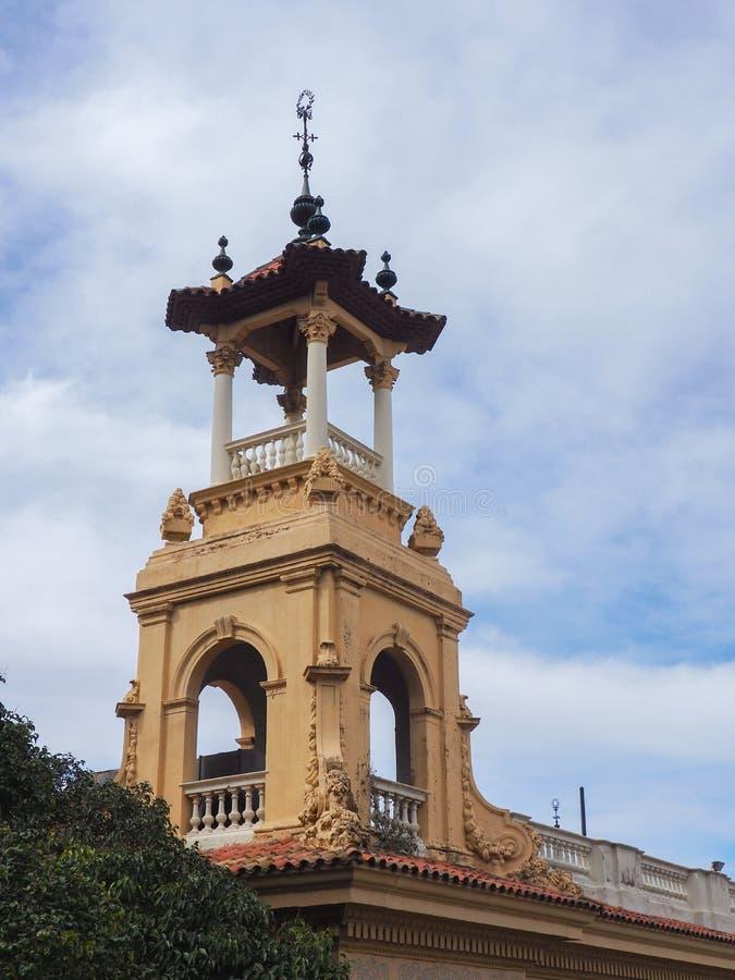 钟楼在巴塞罗那 库存照片