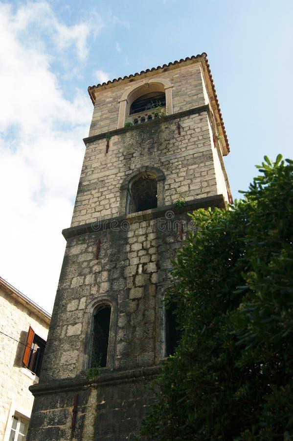 钟楼在科托尔 库存照片