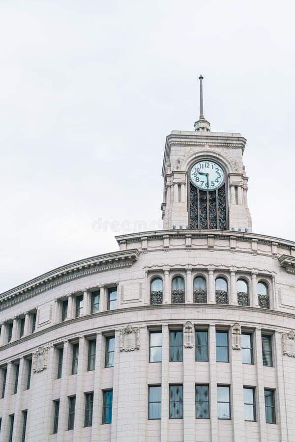 钟楼在银座,东京 免版税图库摄影