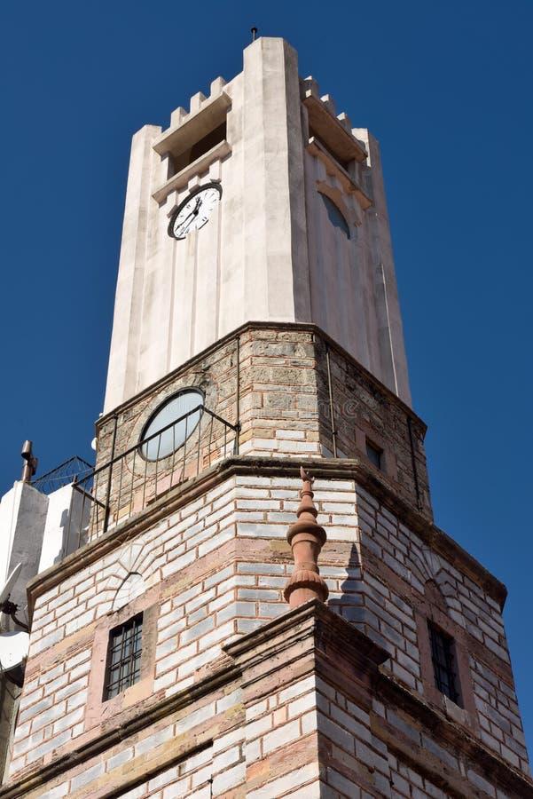 钟楼在Mugla市,土耳其 库存图片
