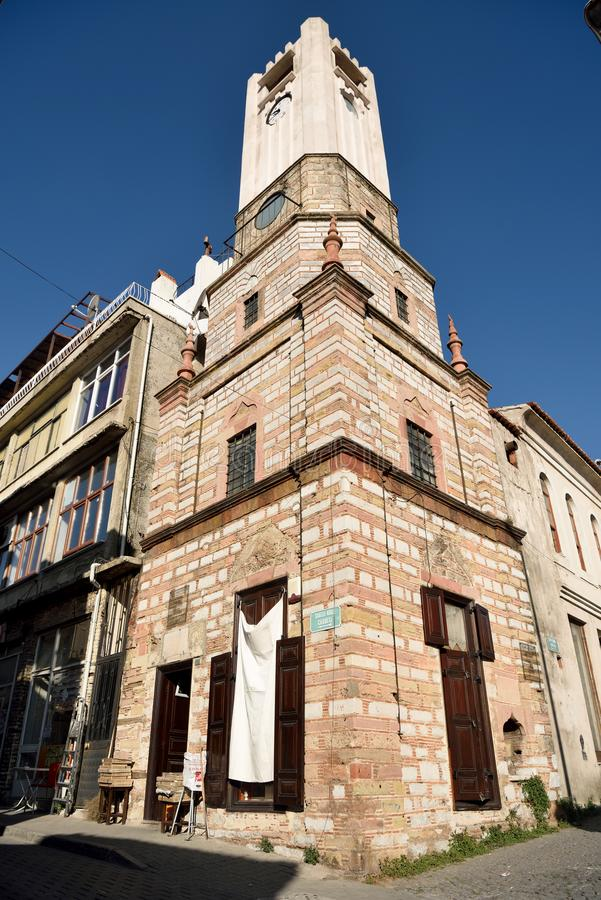 钟楼在Mugla市,土耳其 图库摄影