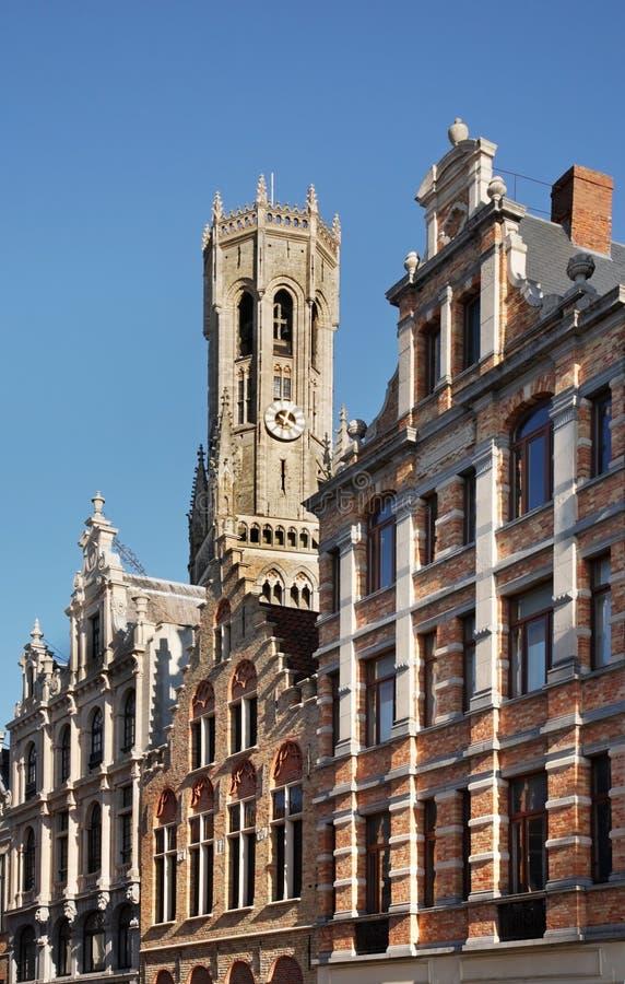 钟楼布鲁日 富兰德 比利时 库存图片