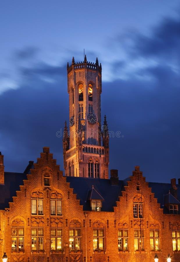 钟楼布鲁日 富兰德 比利时 免版税库存图片