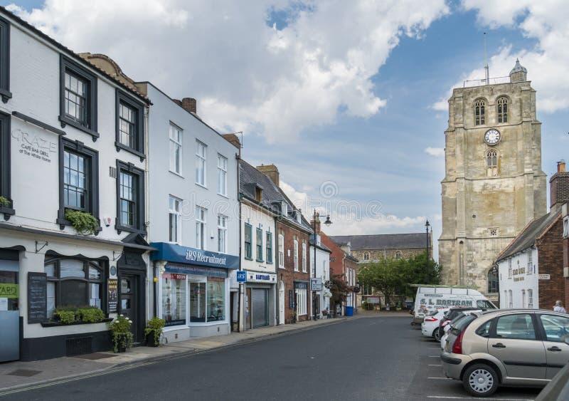 钟楼的看法, Beccles,萨福克,英国 免版税库存照片