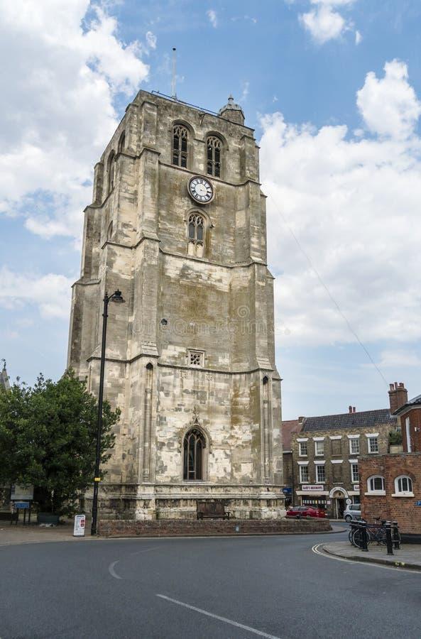 钟楼的看法, Beccles,萨福克,英国 图库摄影