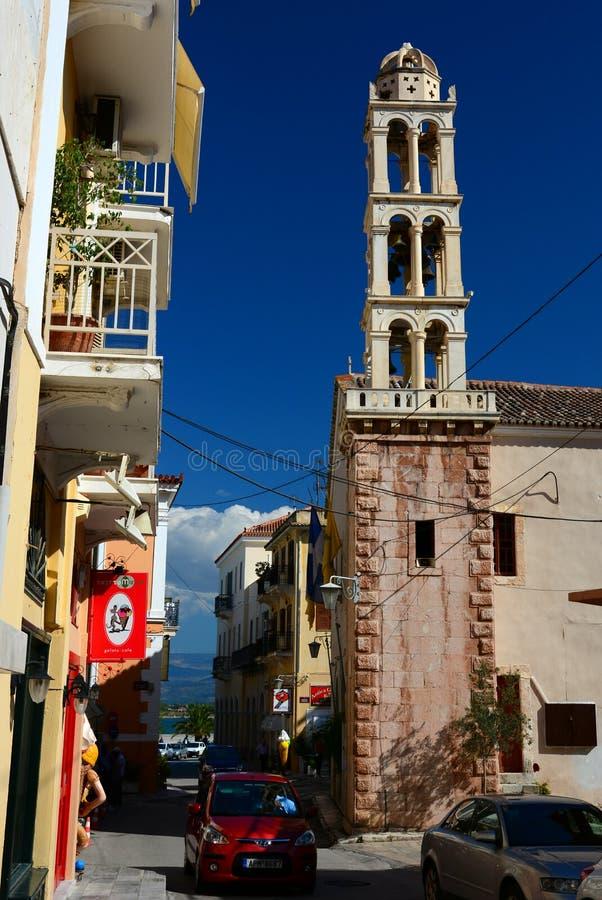 钟楼, Nafplion,希腊 库存照片