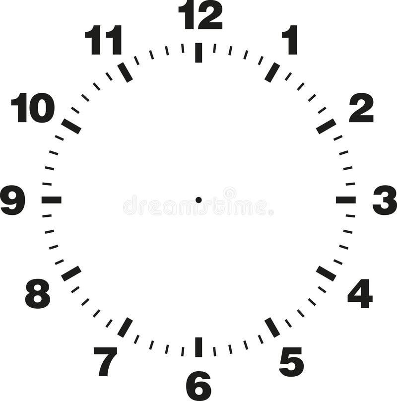 钟盘模板  向量例证