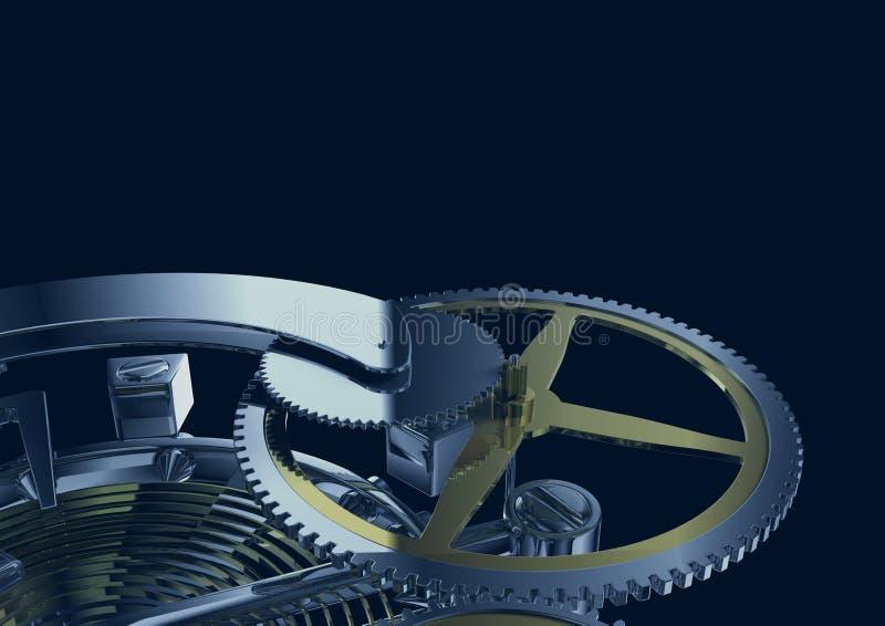 钟表机构结构 向量例证