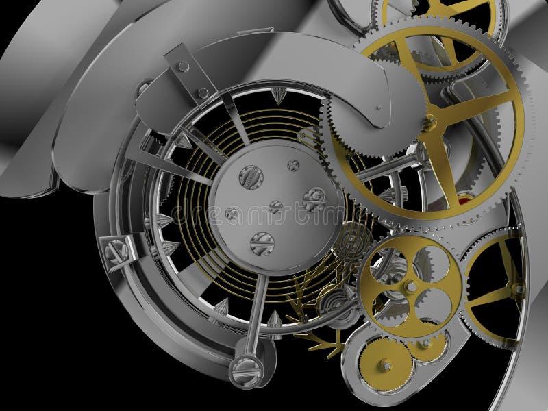 钟表机构结构 库存例证