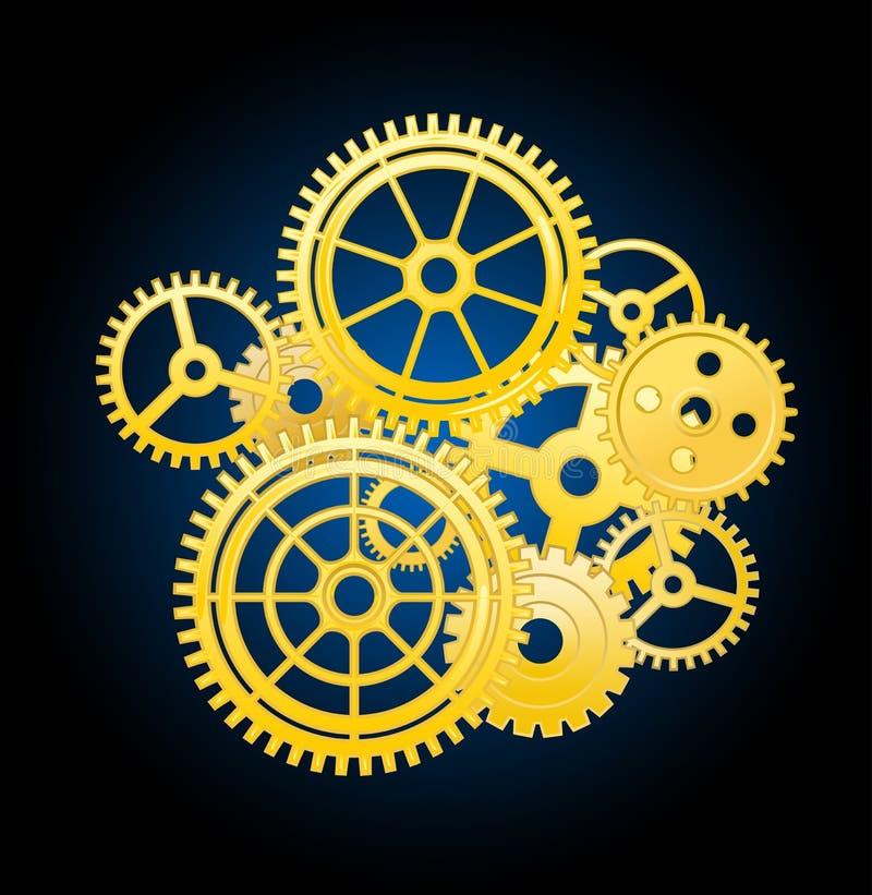 钟表机构要素 向量例证