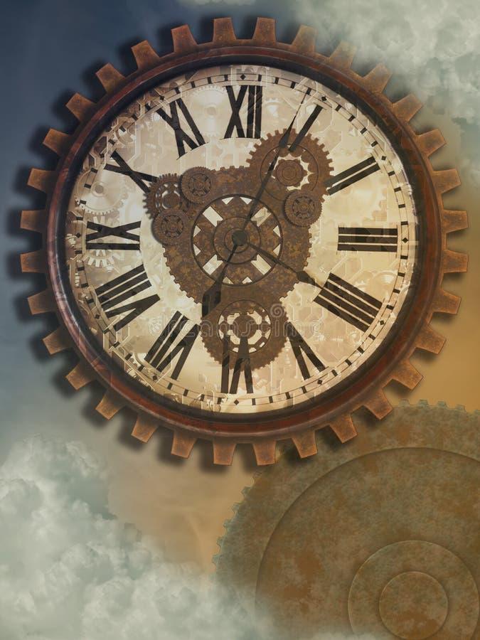 钟表机构 向量例证