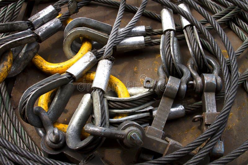 钢丝绳的图象 免版税库存图片