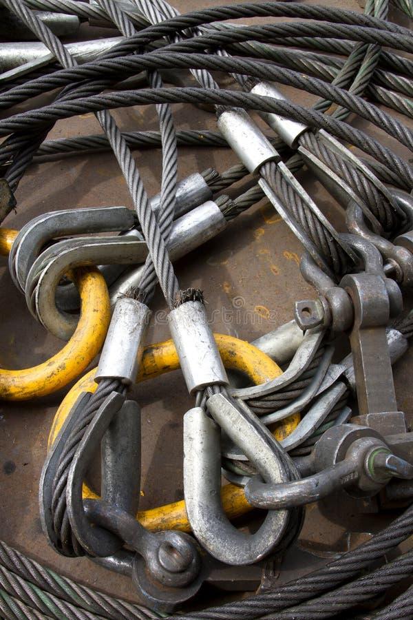 钢丝绳的图象 图库摄影